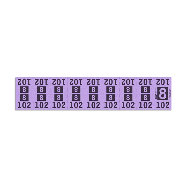 Etiquetas - Tickets Numerados - CLEANER SUPPLY -  #8 Morado - Und